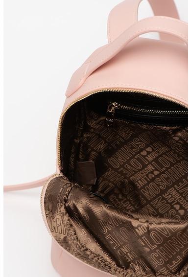 Love Moschino Műbőr hátizsák logós rátéttel női