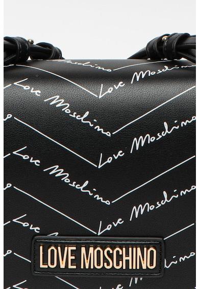 Love Moschino Geanta crossbody din piele ecologica cu model chevron Femei