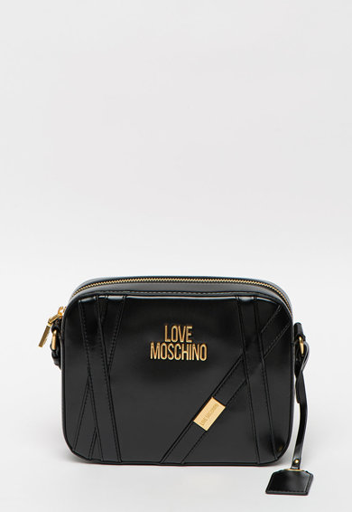 Love Moschino Geanta crossbody din piele ecologica cu logo metalic Femei