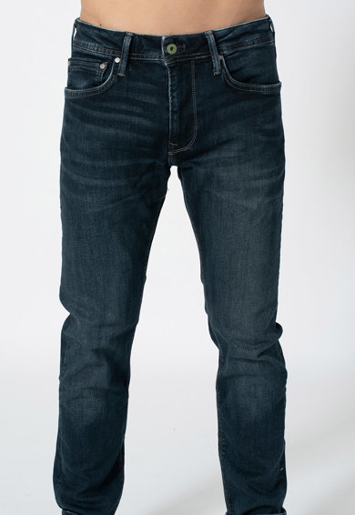 Pepe Jeans London Blugi conici cu talie medie Stanley Barbati