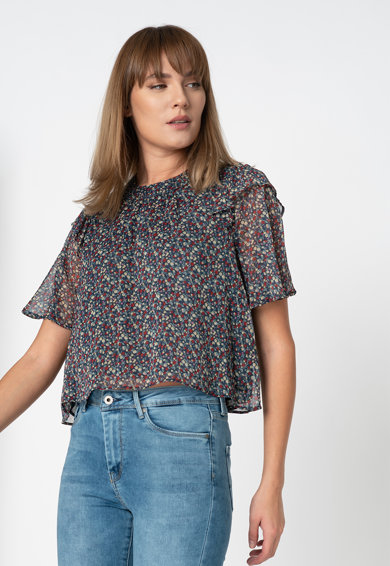 Pepe Jeans London Bluza cu imprimeu floral Femei