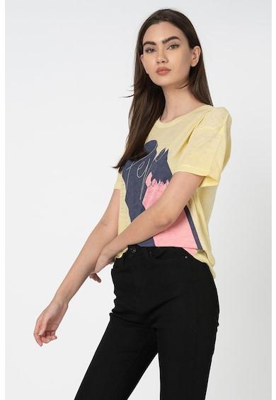 Pepe Jeans London Тениска Alexa с овално деколте и щампа Жени