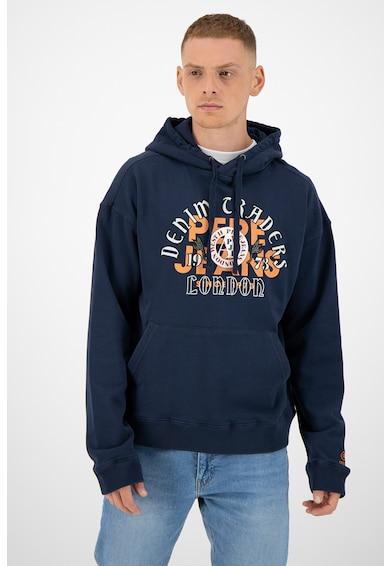 Pepe Jeans London Суитшърт Iggy с качулка, джоб тип кенгуру и лого Мъже