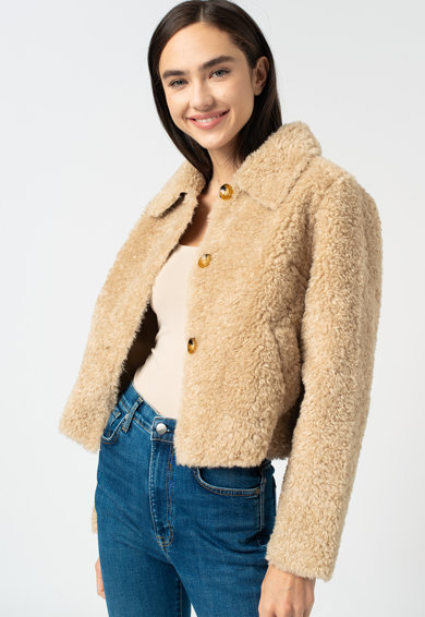 Pepe Jeans London Mina puffos dzseki gombokkal női