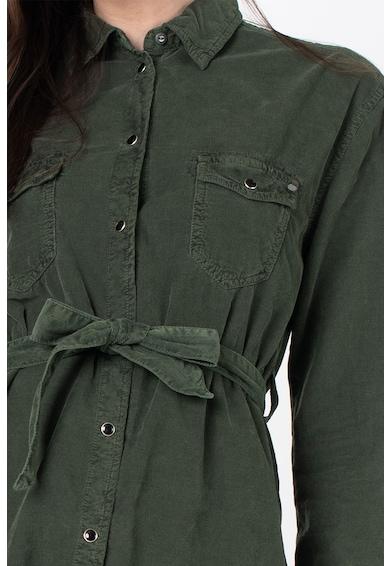 Pepe Jeans London Amelia kordbársony ingruha megkötővel női