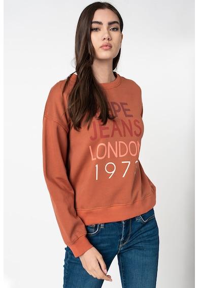 Pepe Jeans London Marta laza fazonú logómintás pulóver női