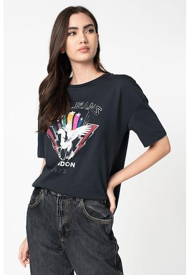 Pepe Jeans London Felisa mintás póló flitteres rátétekkel női