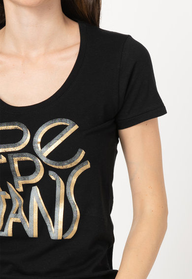 Pepe Jeans London Tricou cu logo Lore Femei