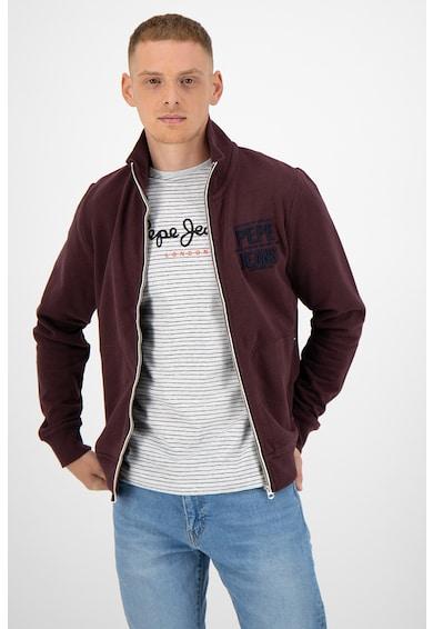 Pepe Jeans London Суитшърт с лого и цип Мъже