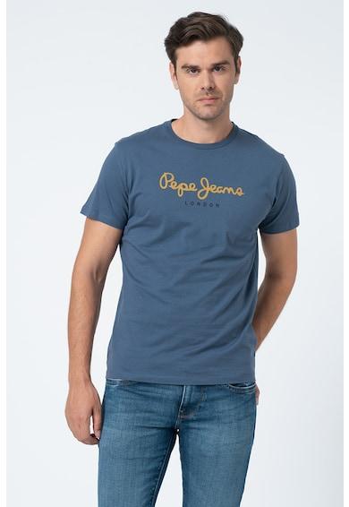 Pepe Jeans London Tricou cu decolteu la baza gatului si imprimeu logo Eggo Barbati