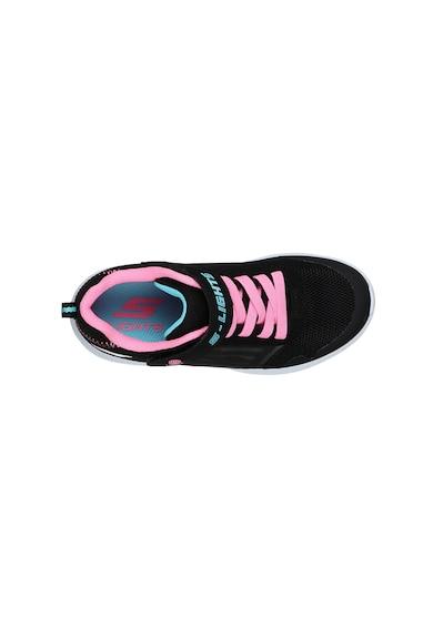 Skechers Dyna-Lights sneaker hálós anyagbetétekkel Lány