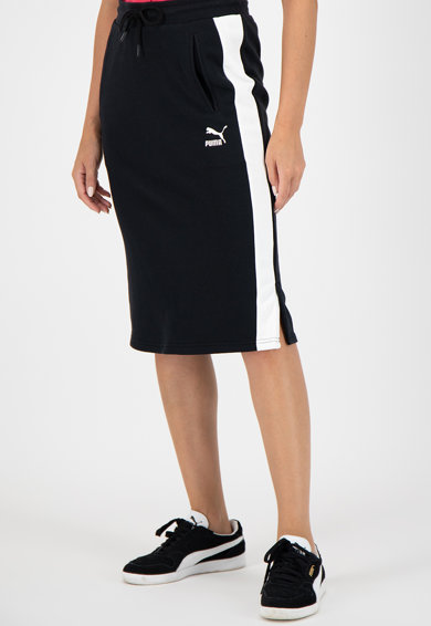 Puma Classics midiszoknya kontrasztos oldalcsíkokkal női