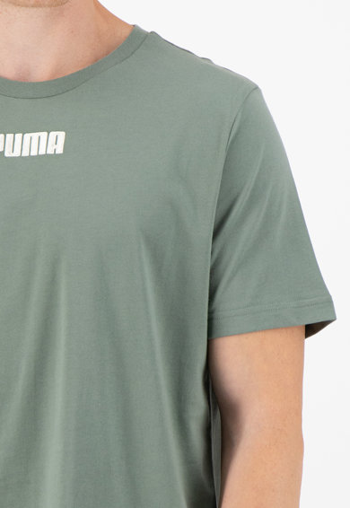 Puma Tricou cu decolteu la baza gatului si imprimeu logo Barbati