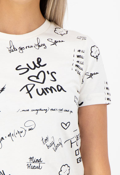Puma Tricou cu model text Puma x Sue Tsai Femei