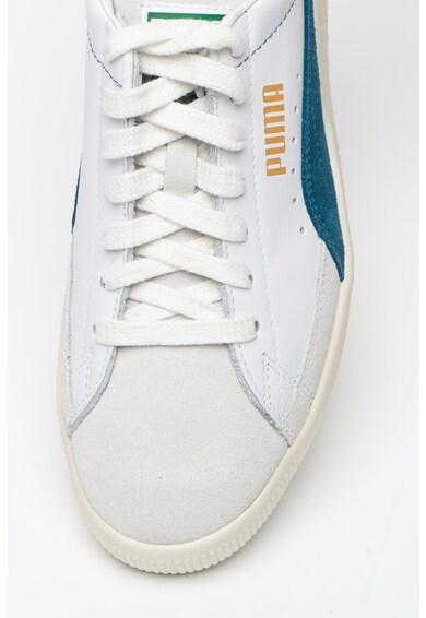 Puma Pantofi sport din piele si piele intoarsa Basket 90680 L Barbati