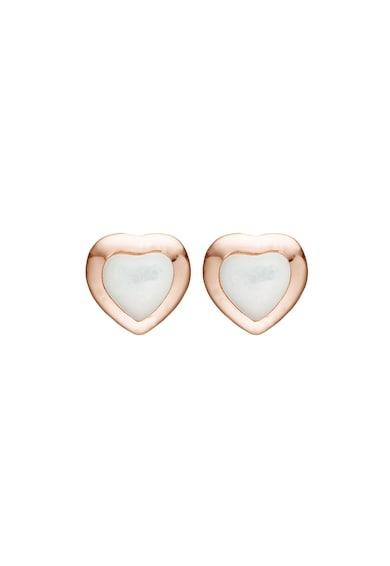Christina Jewelry&Watches Christina Jewelry& Watches, Cercei placati cu aur rose de 18K, decorati cu perla Femei