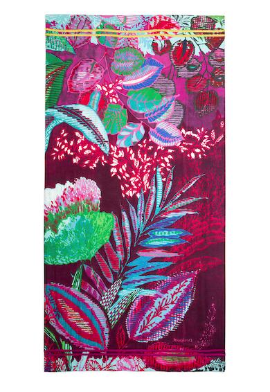DESIGUAL Esarfa cu model tropical Florest Lumine Femei