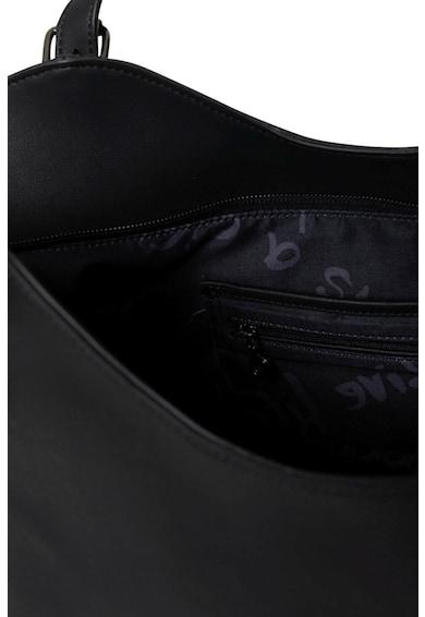 DESIGUAL Geanta de piele ecologica cu bareta de umar Black Star Rotterdam Femei