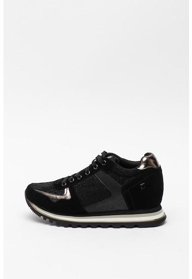 Gioseppo Pantofi sport din piele intoarsa cu insertii din plasa Gerpinnes Femei