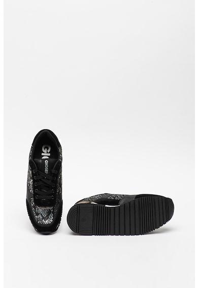 Gioseppo Pantofi sport din piele intoarsa si material textil cu aspect de piele de reptila Onhaye Femei