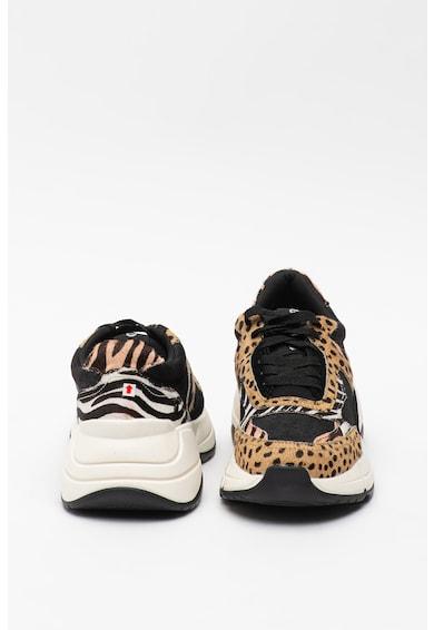 Gioseppo Pantofi sport din piele intoarsa cu animal print Reutov Femei
