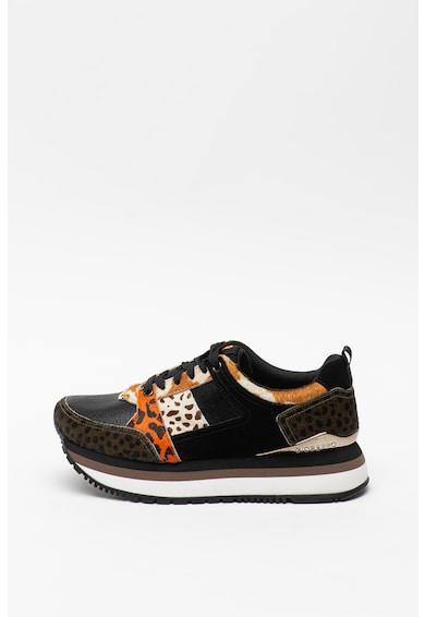 Gioseppo Pantofi sport cu insertii din piele cu par scurt Vyka Femei