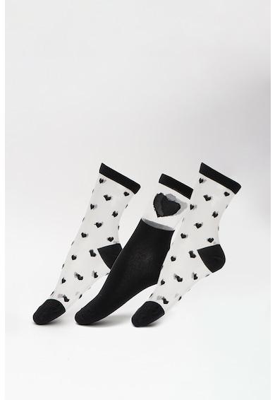 Vero Moda Hosszú szárú zokni szett hálós anyagbetétekkel - 3 pár női
