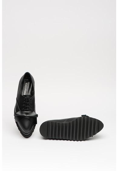 Mihaela Glavan Pantofi din piele cu talpa wedge cu striatii Femei