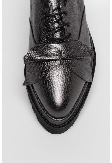 Mihaela Glavan Fémes hatású flatform bőrcipő női