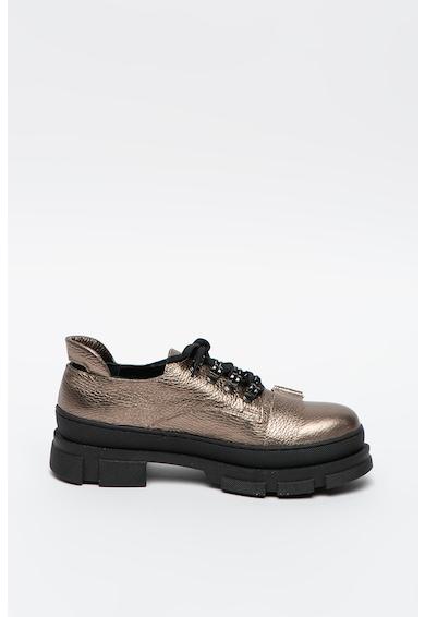 Mihaela Glavan Pantofi de piele cu talpa masiva Femei