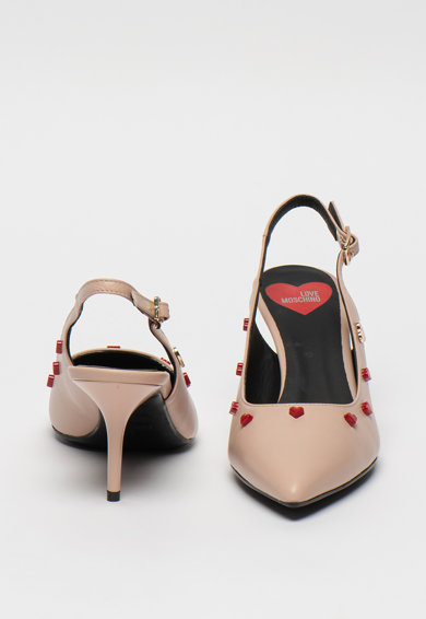 Love Moschino Pantofi slingback din piele Femei
