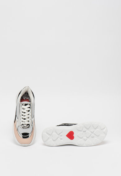 Love Moschino Telitalpú sneaker fémes részletekkel női