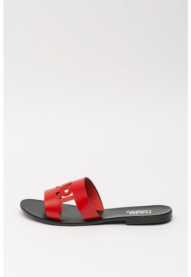 Karl Lagerfeld Skoot bőrpapucs logóval női