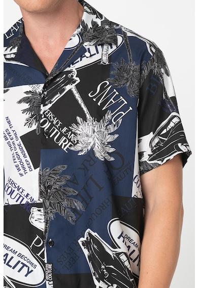 Versace Jeans Couture Rövid ujjú mintás ing férfi