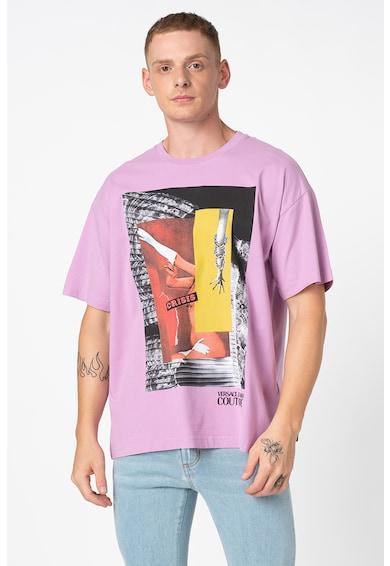 Versace Jeans Couture Mintás laza fazonú kerek nyakú póló férfi