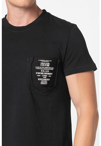Versace Jeans Couture Tricou slim fit cu aplicatie logo Barbati