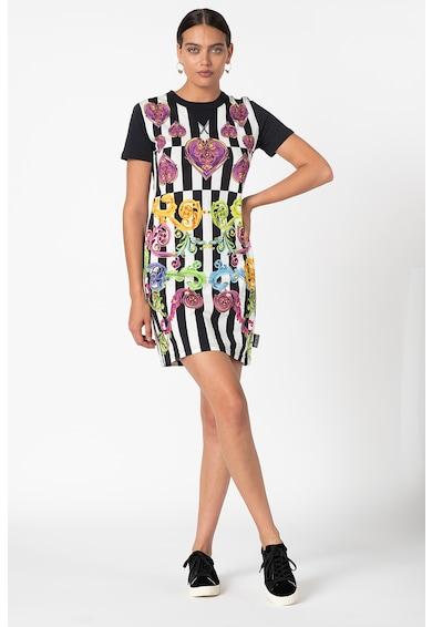 Versace Jeans Couture Rochie cu model in dungi si grafic Femei