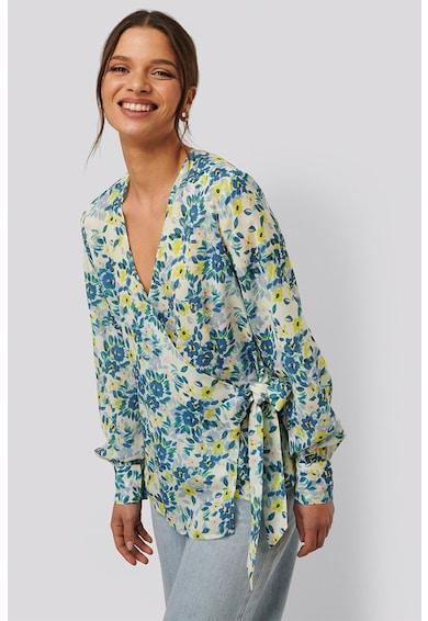 NA-KD Bluza cu croiala petrecuta si imprimeu floral Femei