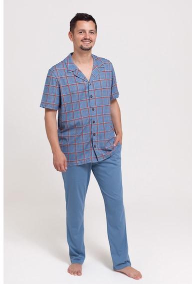 Sofiaman Pijama cu camasa in carouri Barbati
