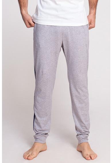 Sofiaman Pantaloni de casa cu benzi laterale contrastante Soft Touch Barbati
