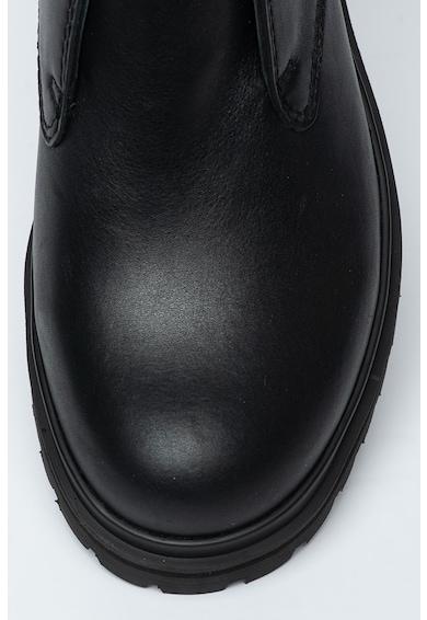 Versace Jeans Couture Ghete din piele cu segment cu catarama Barbati