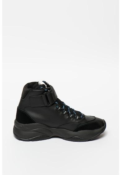Versace Jeans Couture Pantofi sport cu talpa wedge si bareta cu velcro Barbati