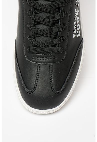 Versace Jeans Couture Pantofi sport din piele si piele ecologica Barbati