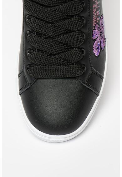 Versace Jeans Couture Pantofi sport cu broderii florale Femei