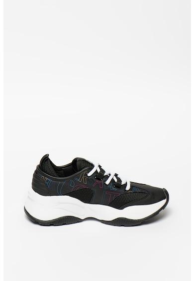 Versace Jeans Couture Pantofi sport cu talpa wedge si insertii din piele ecologica Femei