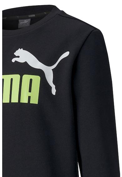 Puma Bluza sport cu decolteu la baza gatului si logo Essentials Baieti