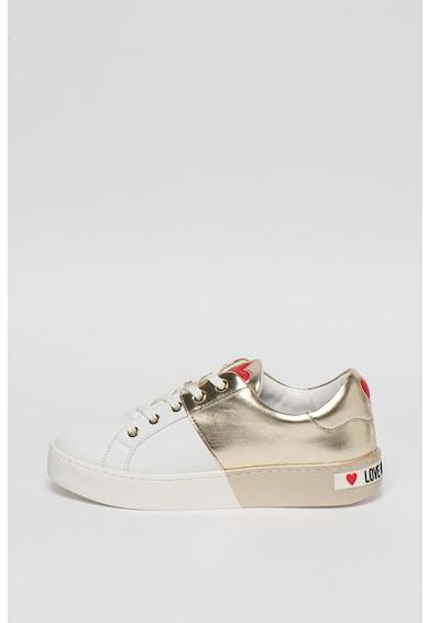 Love Moschino Pantofi sport de piele si piele ecologica Femei