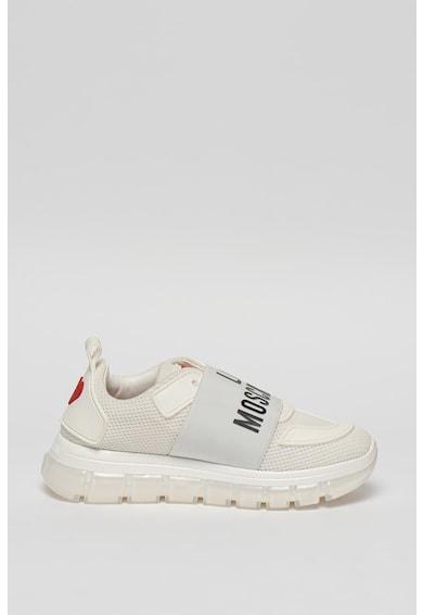 Love Moschino Pantofi slip-on de plasa, cu logo Femei