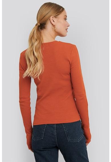 NA-KD Bluza cu maneci lungi si detalii constrastante Femei