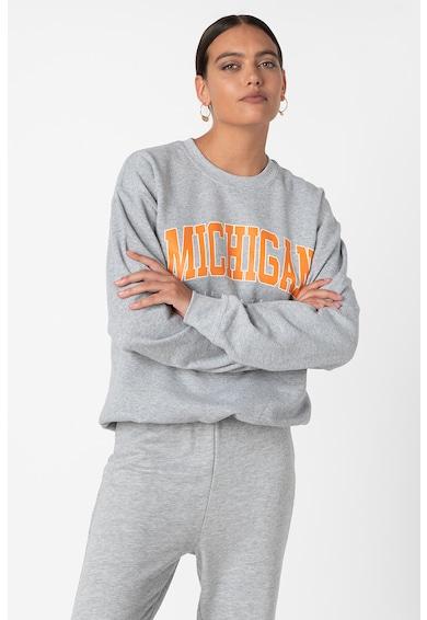 Missguided Bluza sport supradimensionata cu imprimeu text Femei